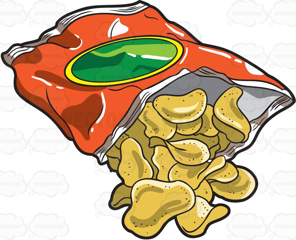 Bag of free download. Chips clipart cartoon