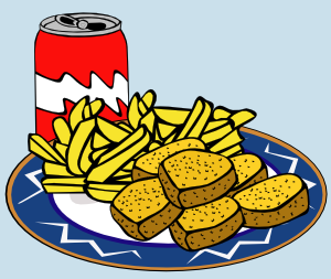 Coke can nuggets french. Chips clipart chicken