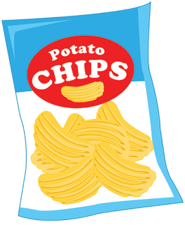 collection of packet. Chips clipart cartoon