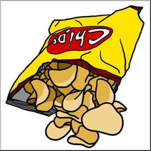 Clip art potato color. Chips clipart chipsclip