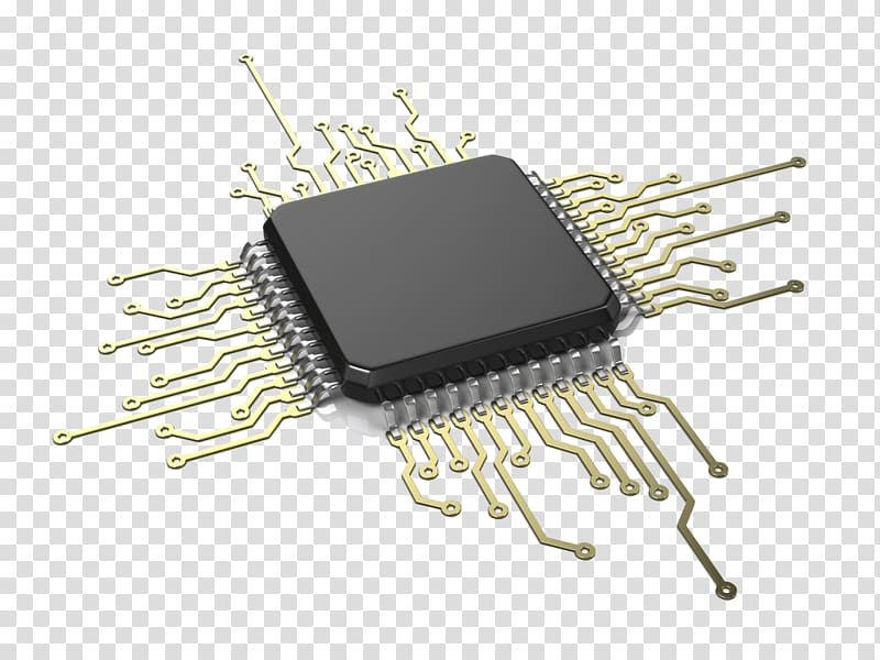 Black processor illustration integrated. Electronics clipart computer chip