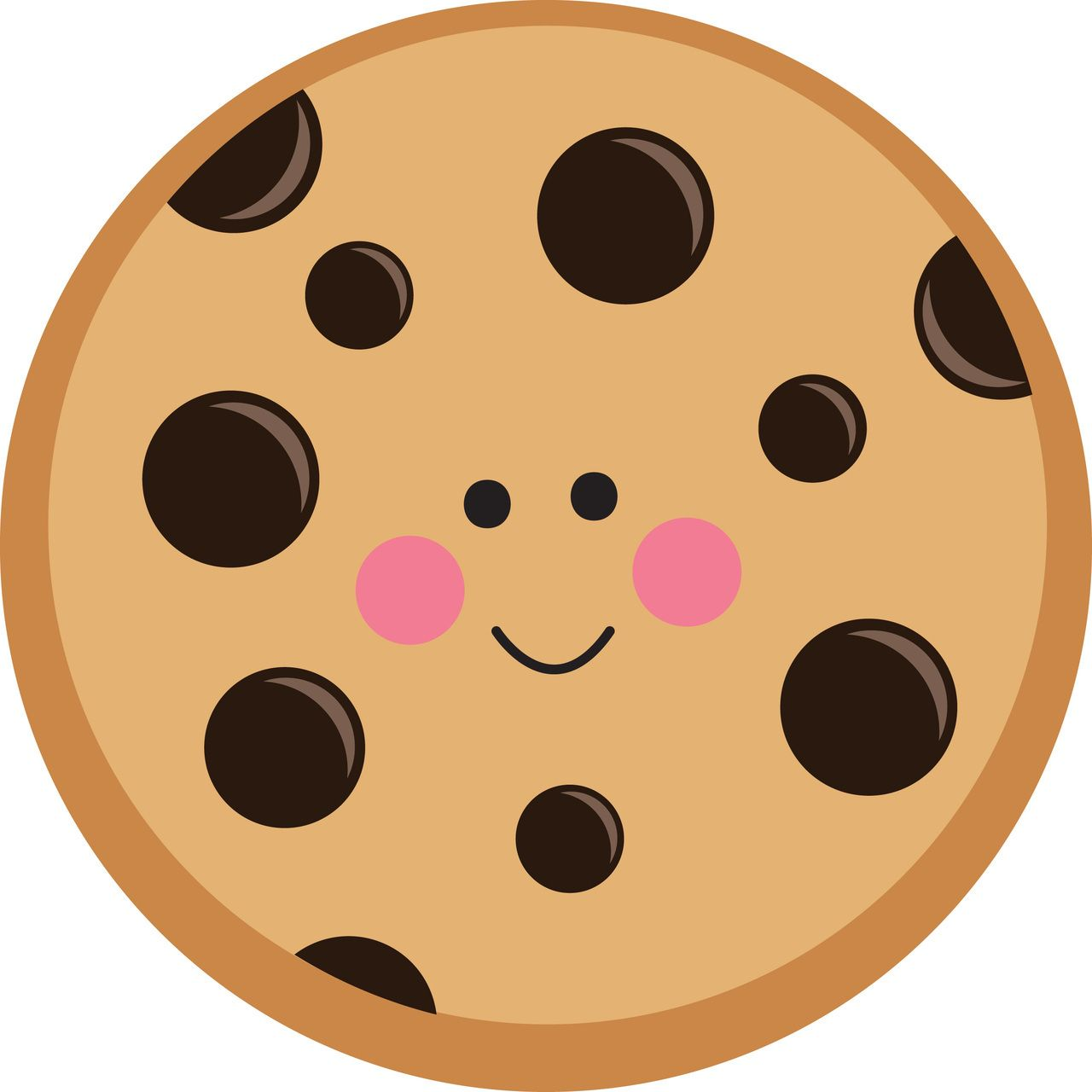Chips clipart cute. Chocolate chip cookie off