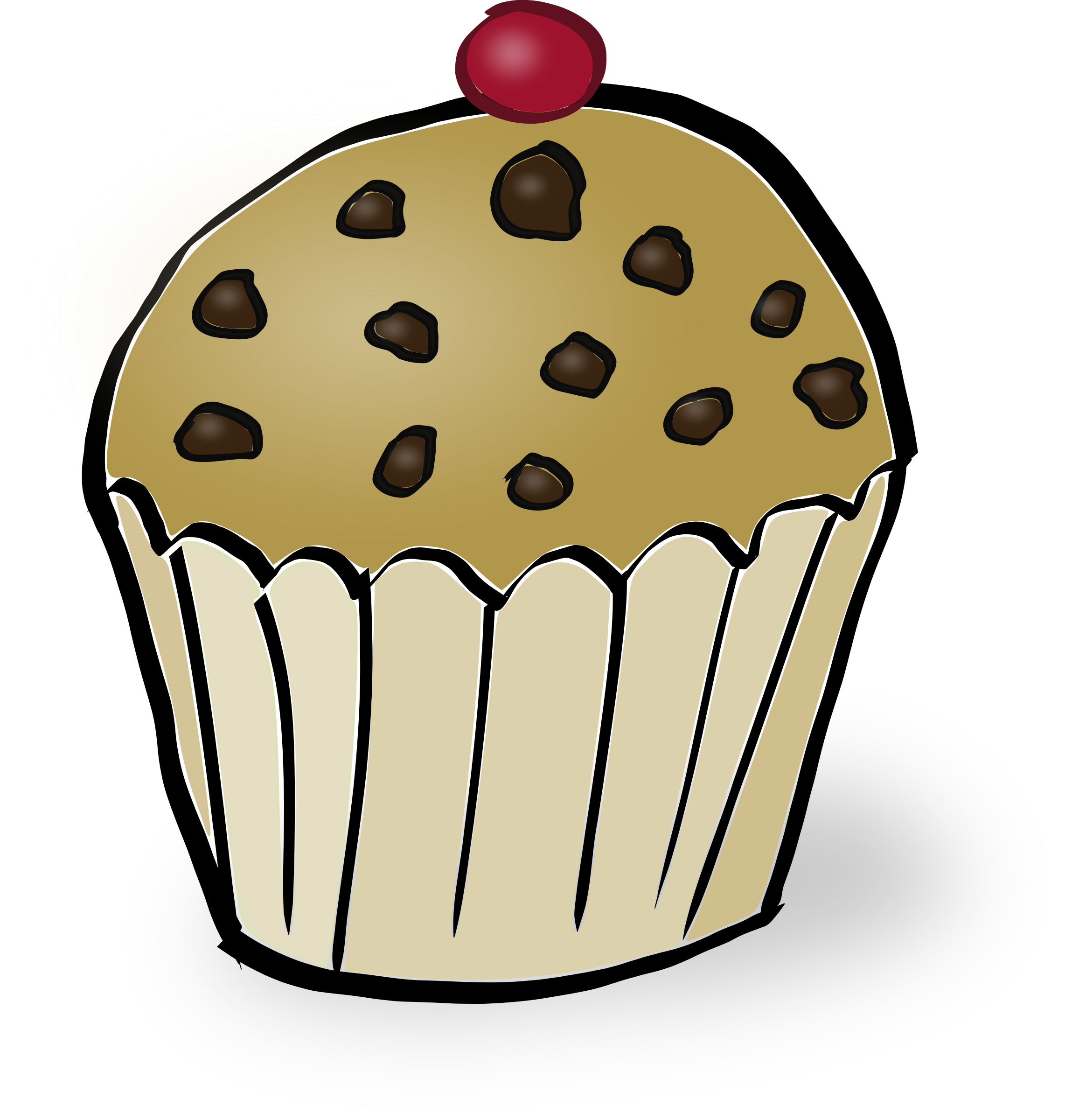 Chips clipart cute. Chocolate muffin big image