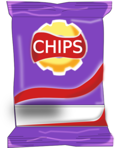 Clip art at clker. Chips clipart chip packet
