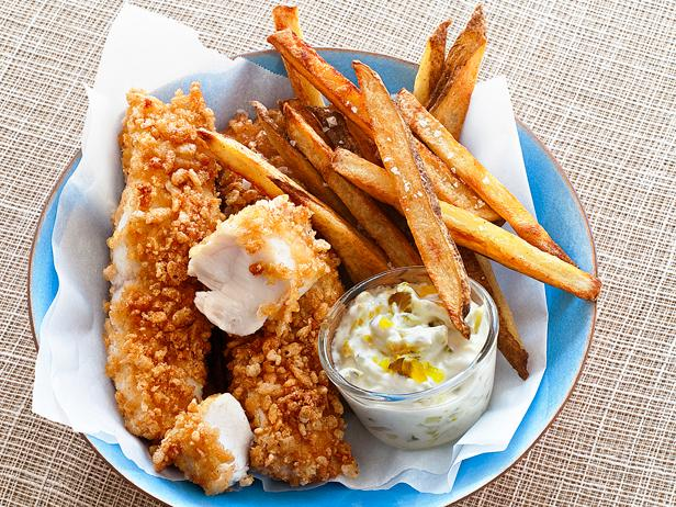 Baked fish and chips. Chip clipart finger chip