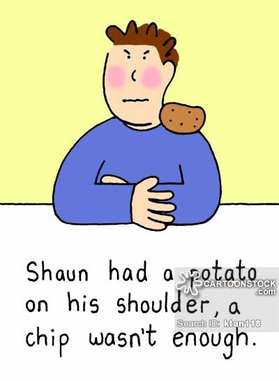 On shoulder cartoons and. Chip clipart finger chip