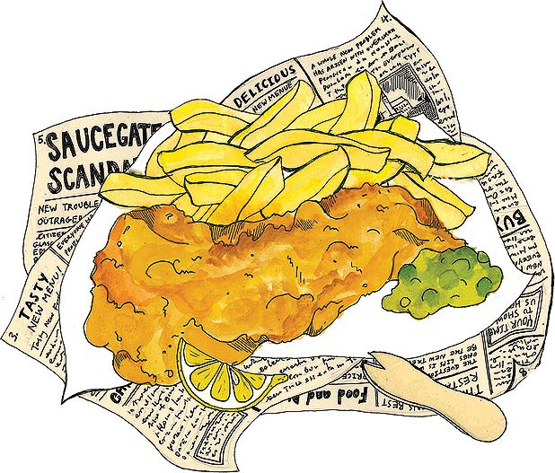 Chip clipart fish. The best and chips