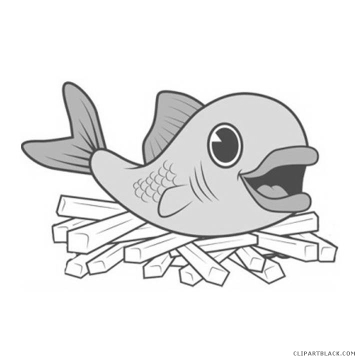 Chips clipart fish. And clipartblack com animal