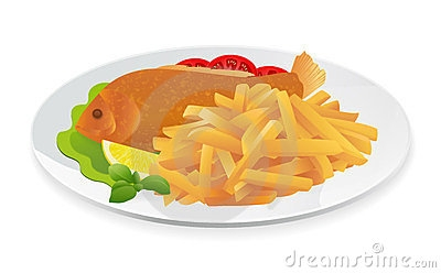 Chips clipart fish. And station