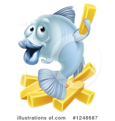 Chips clipart fish. And illustration by atstockillustration