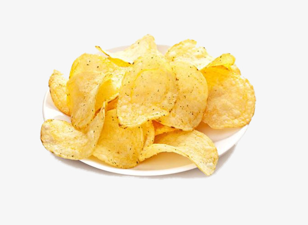 Dish of potato chips. Chip clipart fried chip