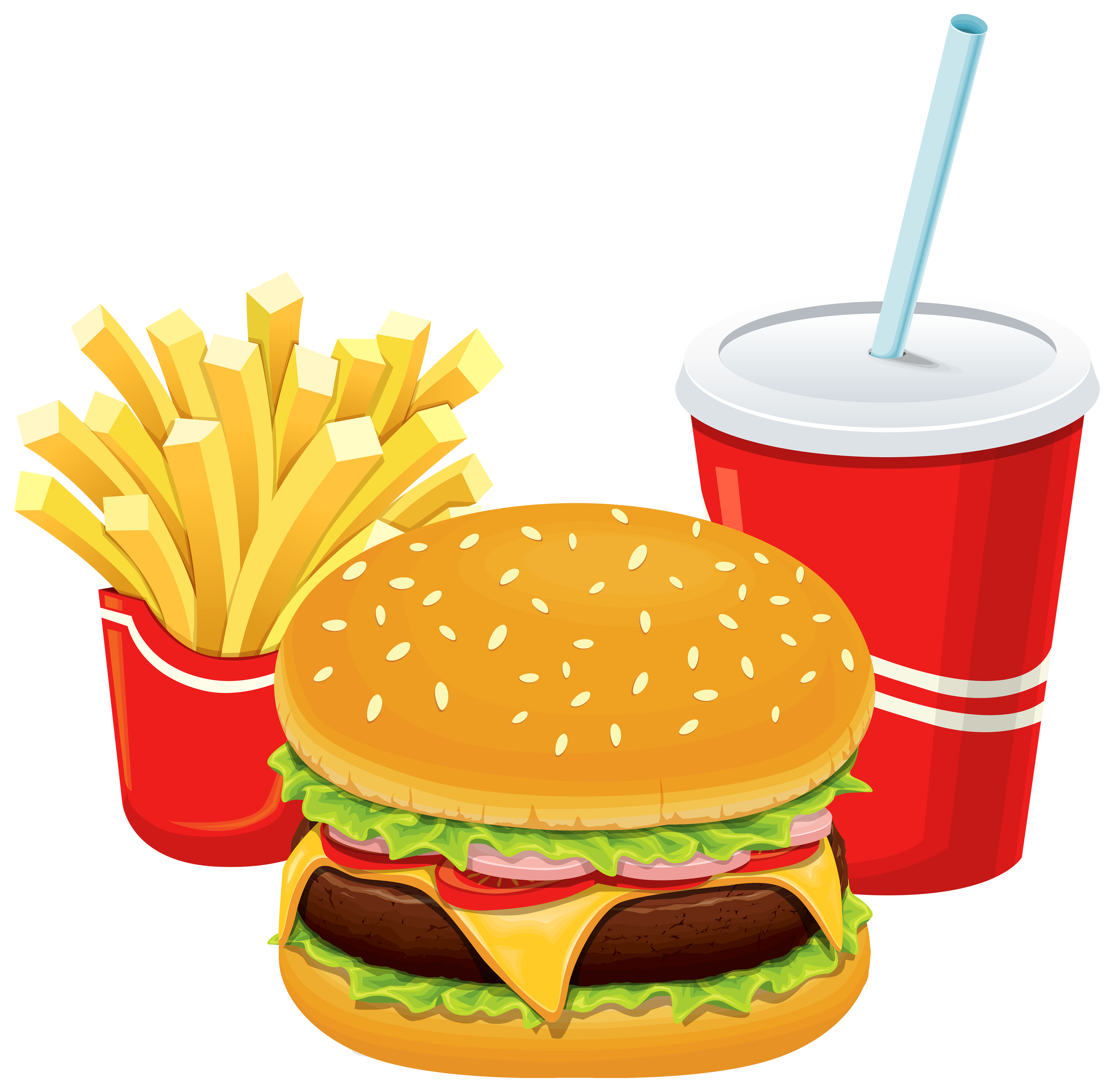 Luncheon clipart table full food. Chips hamburger pencil and