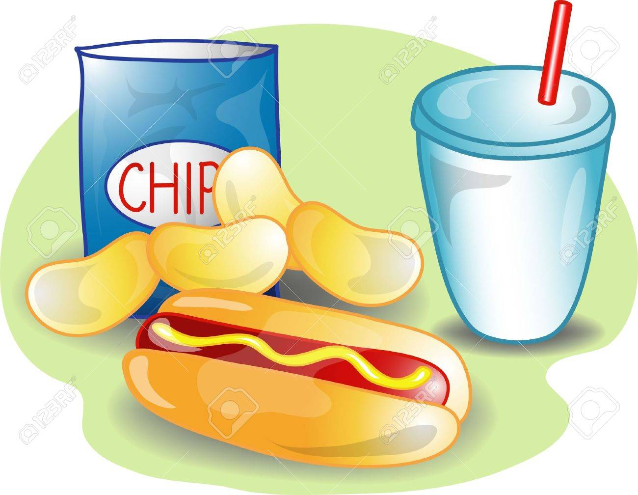And portal . Chips clipart hot dog