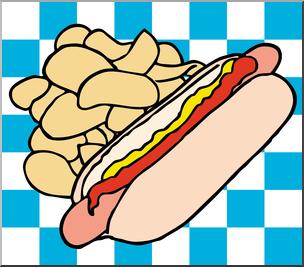 Clip art color i. Chips clipart hot dog