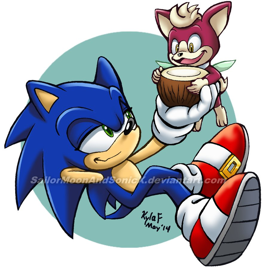 Chip clipart juice. Sonic and coconut by