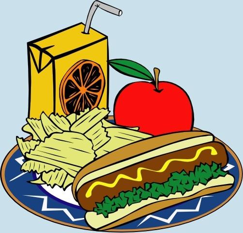 Chip clipart juice. Hotdog apple chips mustard