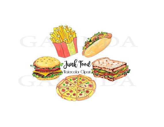 Fast food hamburger clip. Chips clipart pizza