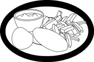 Chip clipart outline. Search results for chips