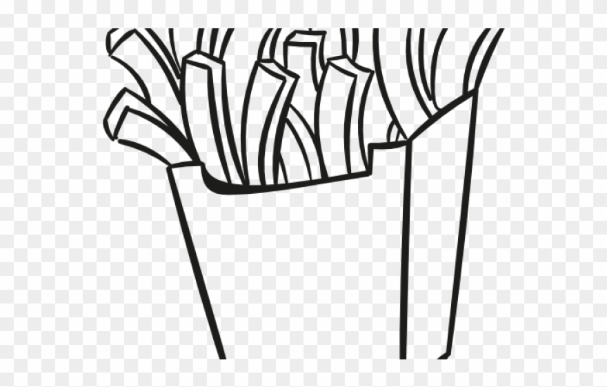Chips clipart outline. Potato french fries png