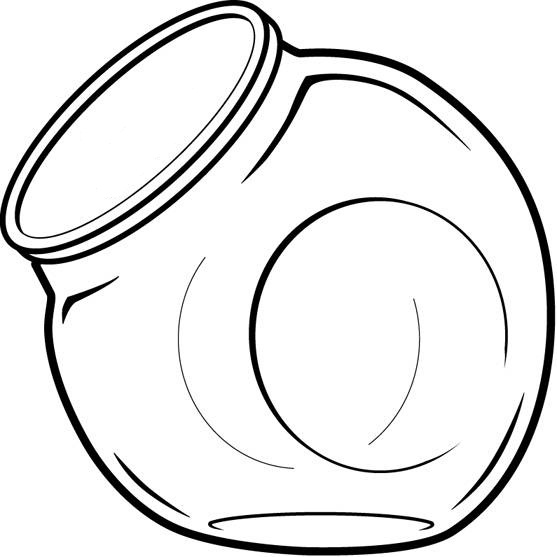 Chip clipart outline. Cookie jar free images