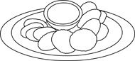Free black and white. Chip clipart outline