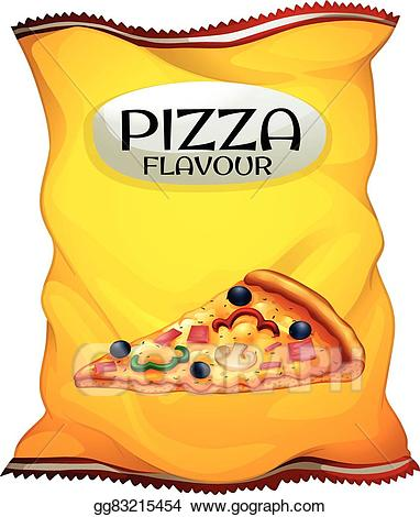 Vector stock bag of. Chips clipart pizza