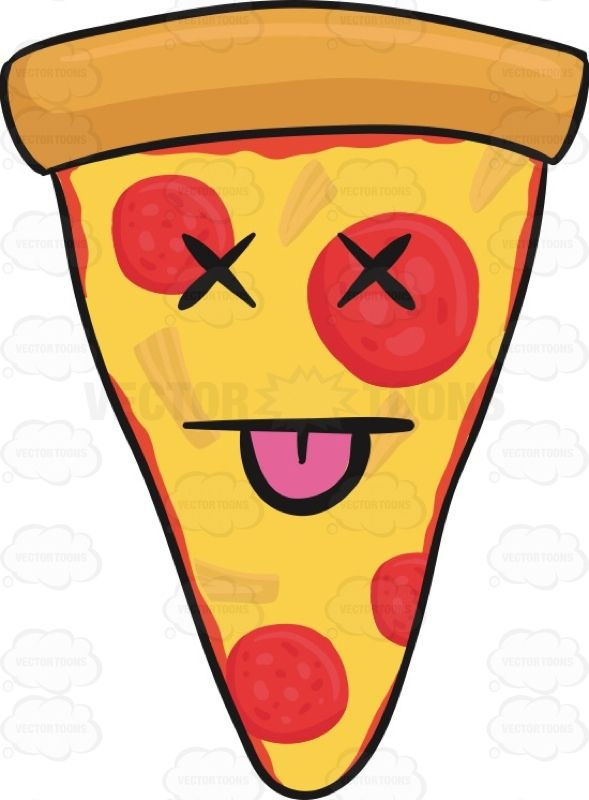 Chip clipart pizza. Knocked out slice of