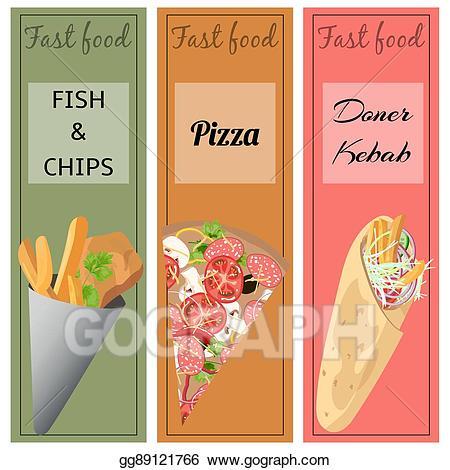 Eps illustration doner kebab. Chip clipart pizza