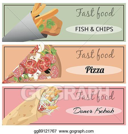 Chip clipart pizza. Eps illustration doner kebab