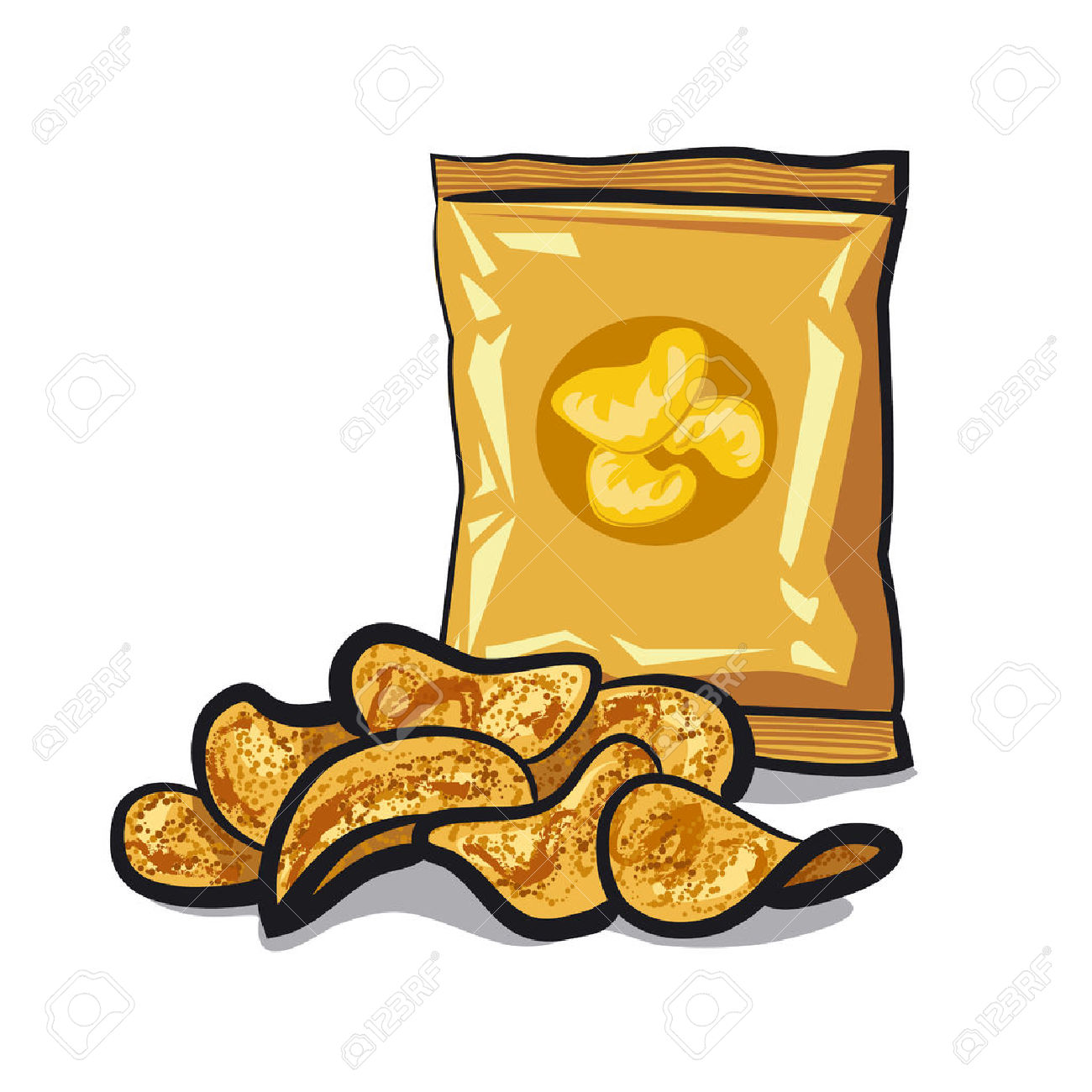 Chips clipart potato chip. Free download best