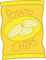 Bag . Chip clipart potato chip