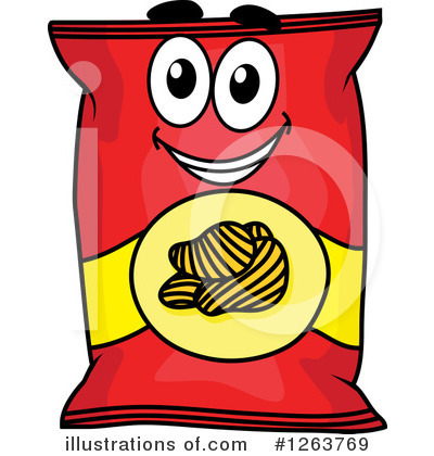 Chip clipart potato chip. Chips illustration by vector