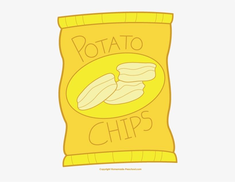 Chip clipart potatoe chip. Potato chips snack bag
