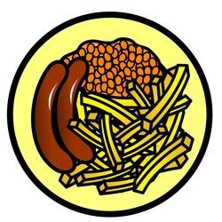 Symbol food potato talksense. Chip clipart sausage