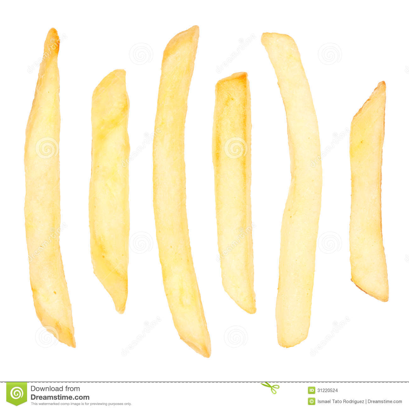 French fry . Chips clipart single