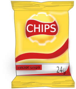 Chips clipart cartoon. Bag of clip art