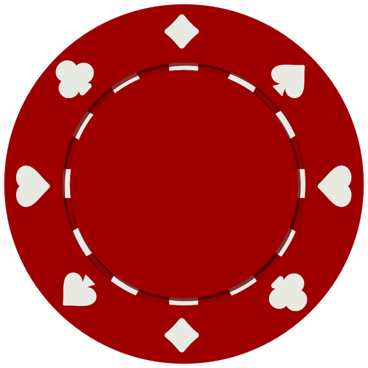 Pcs suited style poker. Chips clipart template
