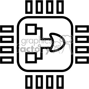 Royalty free computer micro. Chip clipart vector