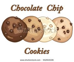 Yummy chocolate cookies images. Chip clipart vector