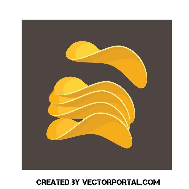 Potato chips clip art. Chip clipart vector