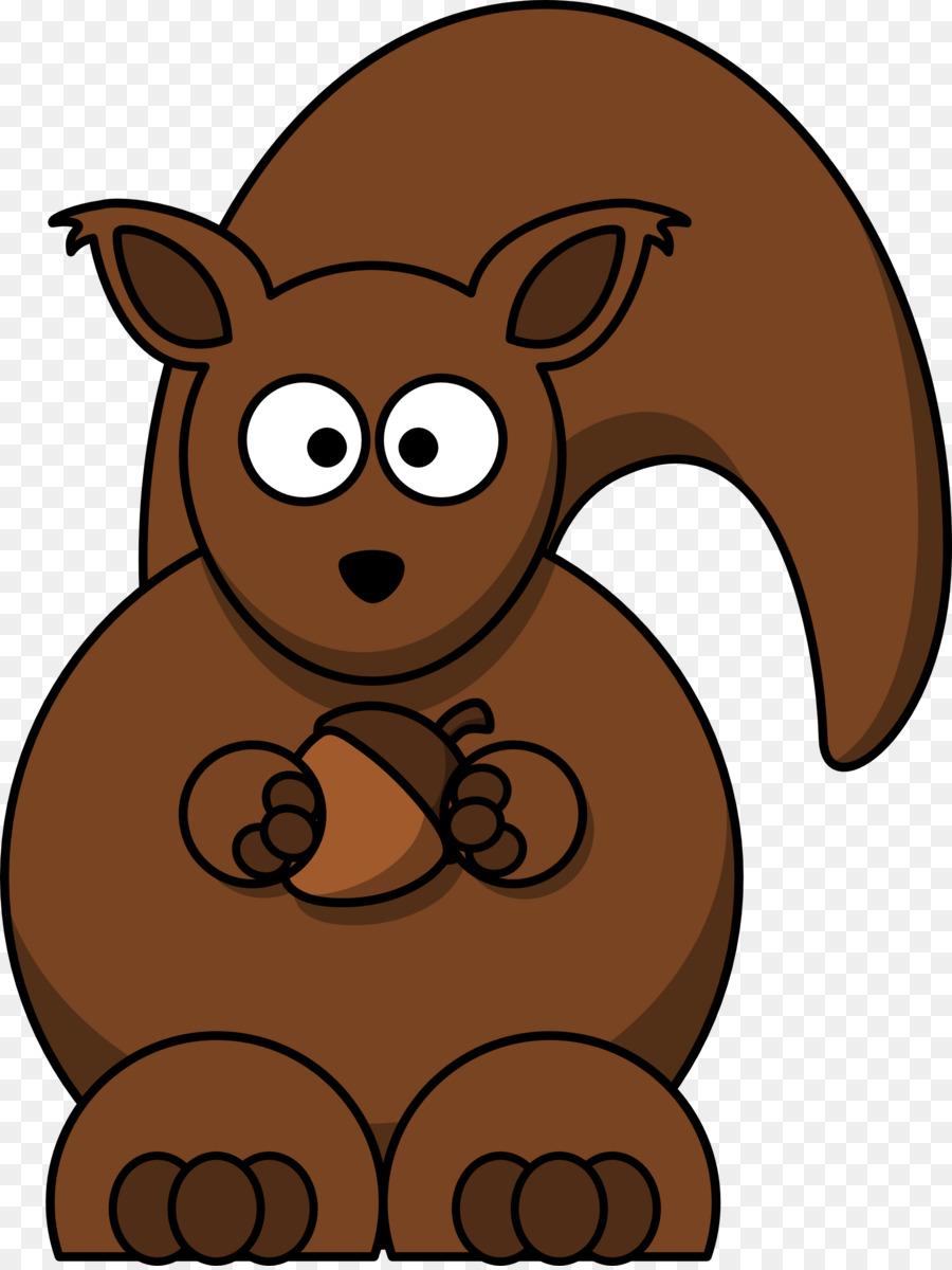 Cartoon bear transparent clip. Chipmunk clipart brown