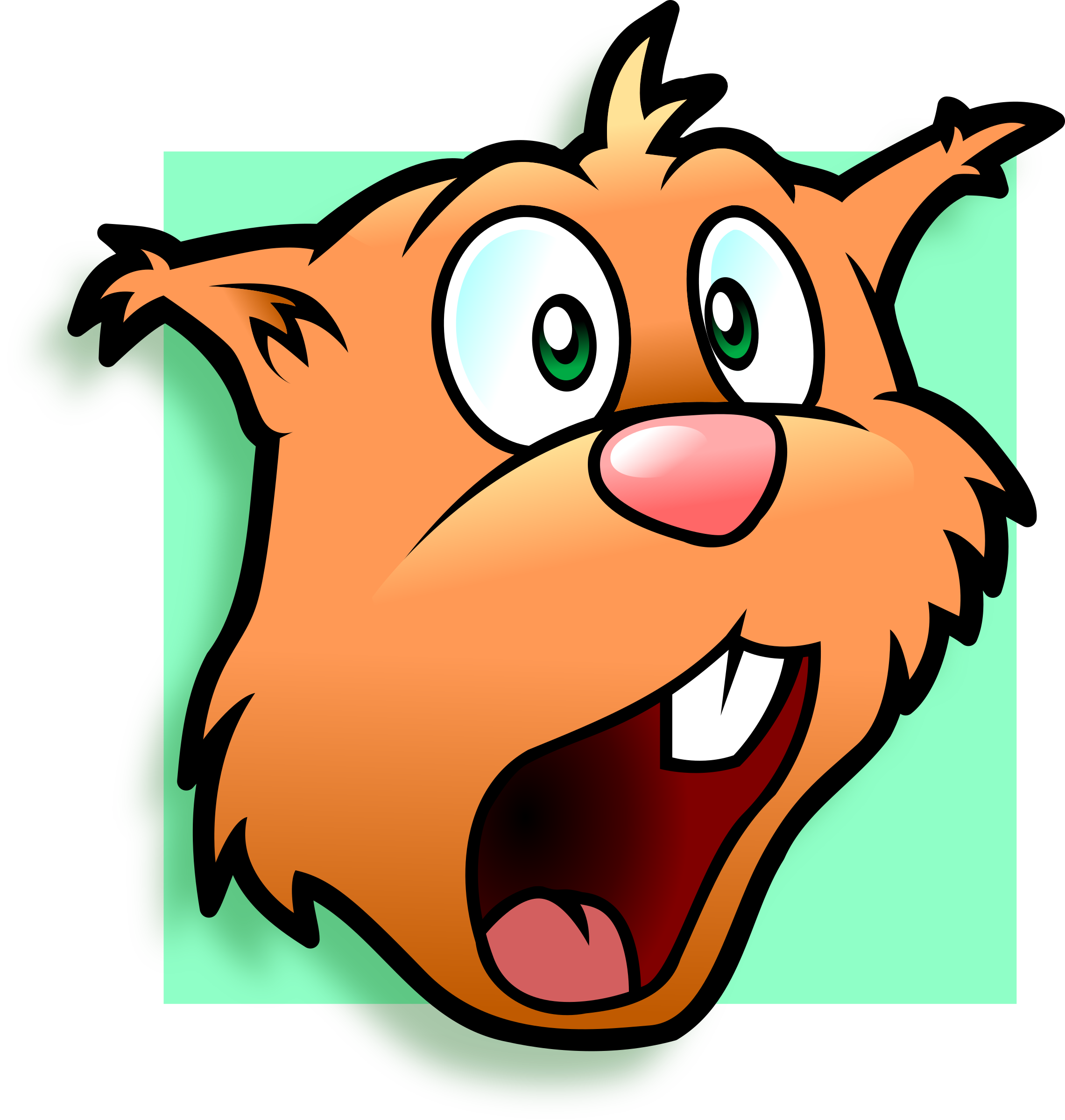 D20 clipart avatar. Amazed chipmunk icons png