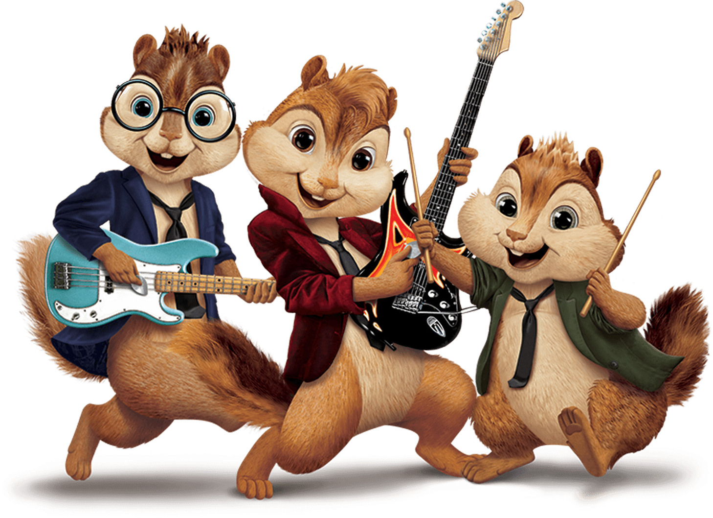 Chipmunk clipart dancing. Alvin and the chipmunks