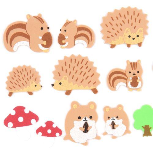 Cute brown hedgehog animals. Chipmunk clipart kawaii