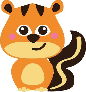 collection of cute. Chipmunk clipart kawaii