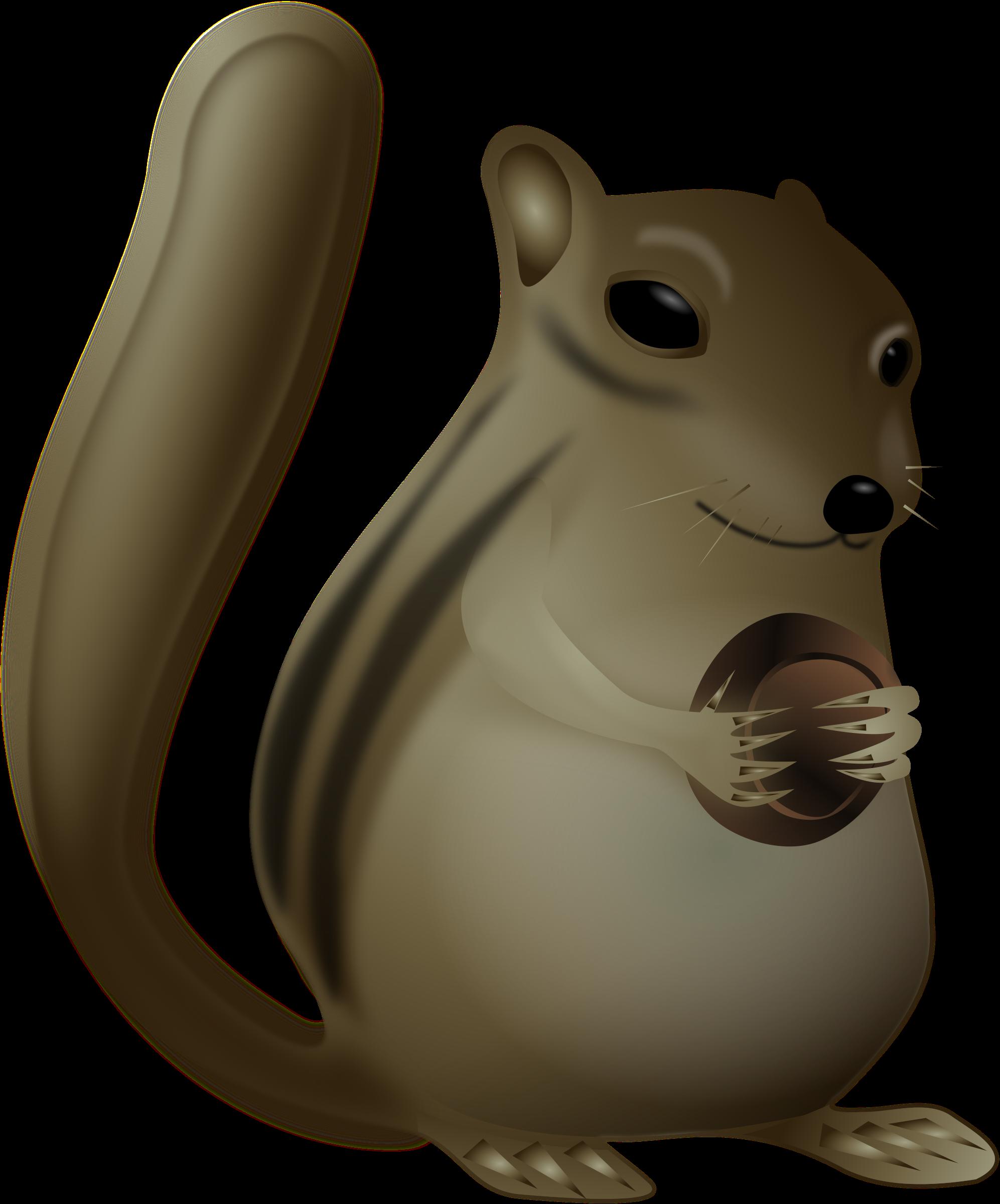 Chipmunk very big image. Fat clipart sad