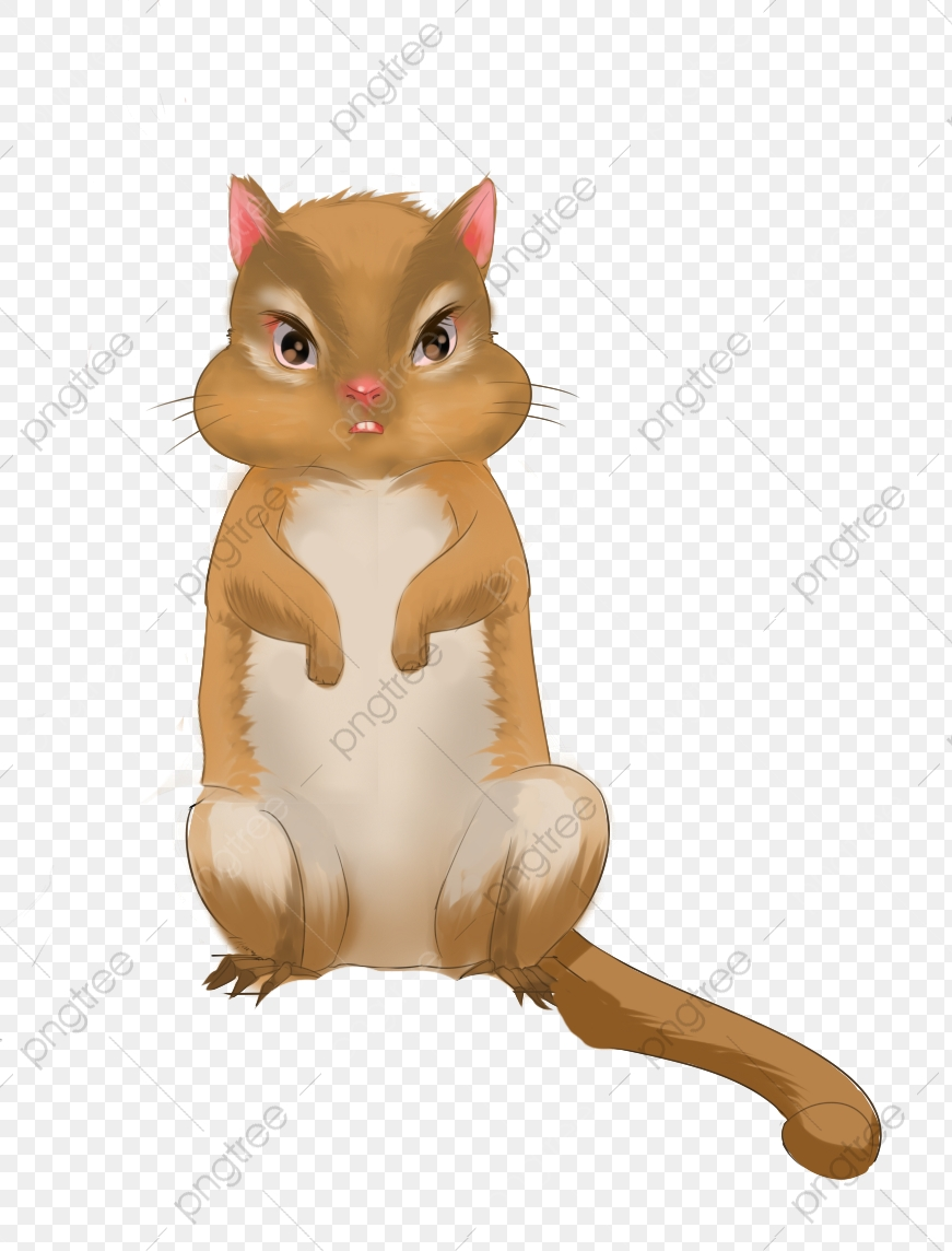 Chipmunk clipart squirral. Hand painted lovely squirrel