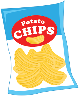 collection of bag. Chips clipart