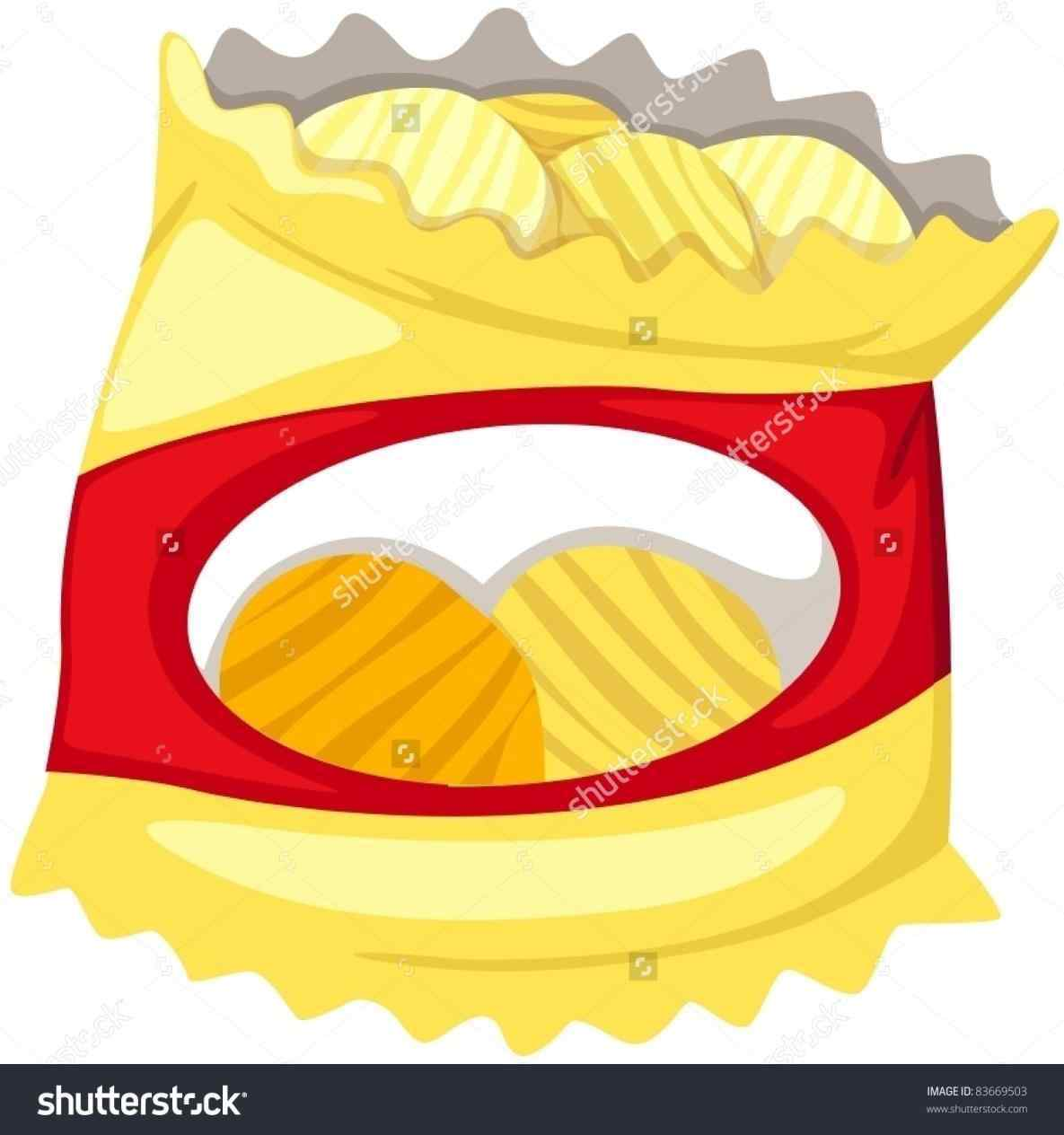 Chips clipart. Food pencil and in