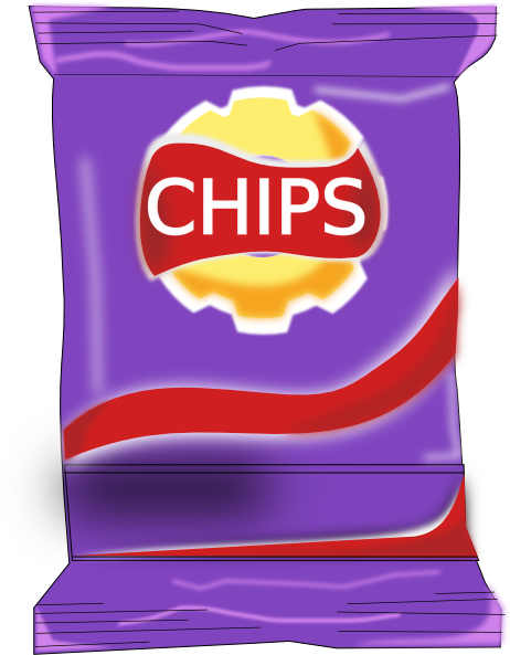 Packet clip art at. Chips clipart bag chip